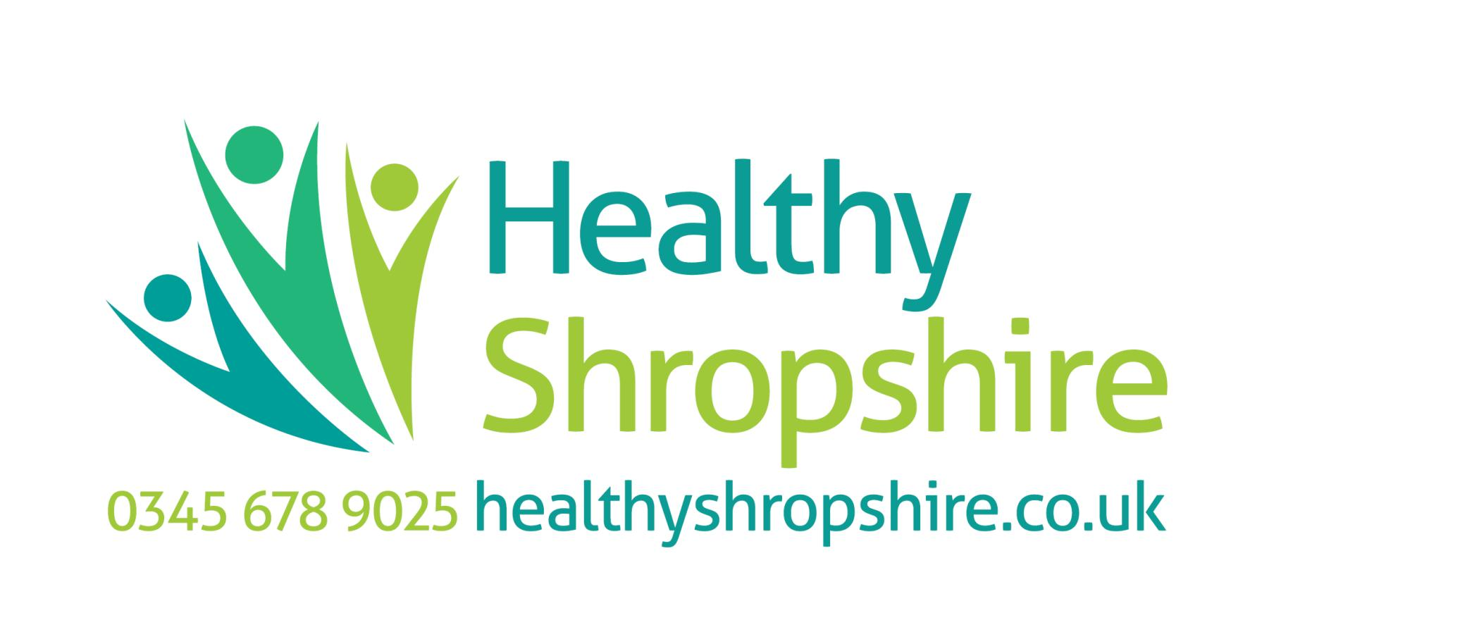 Healthy Shrop Logo with Tel Number